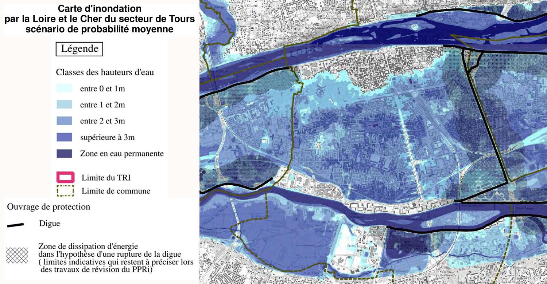 Crues tours inondations cher et loire for Zone commune