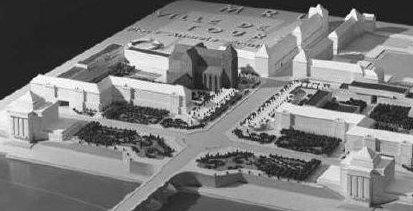 l 39 entr e de ville jardin imagin e par l 39 architecte patout en 1951. Black Bedroom Furniture Sets. Home Design Ideas